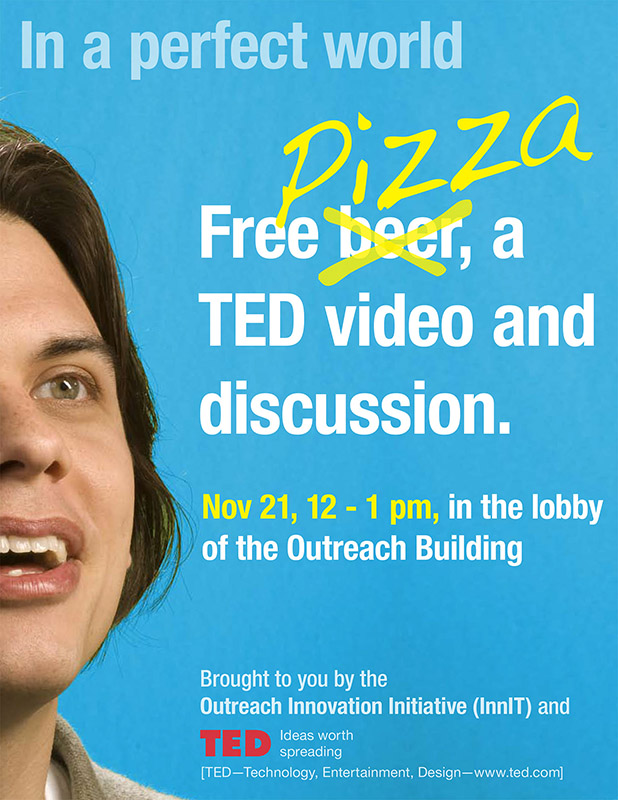 TED talk, Pizza and discussion at Penn State University