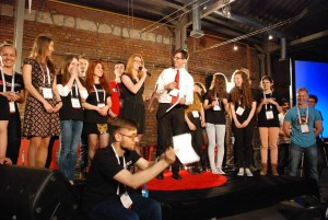 TEDxKazimierz team on stage